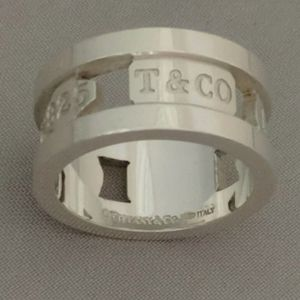 Auth Tiffany & Co. ♡ 1837 Elements Open Band Ring